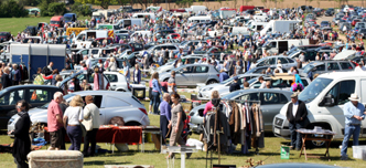 A busy Boot Sale.